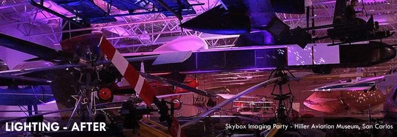 LIGHTING - AFTER Skybox Imaging Party - Hiller Aviation Museum, San Carlos
