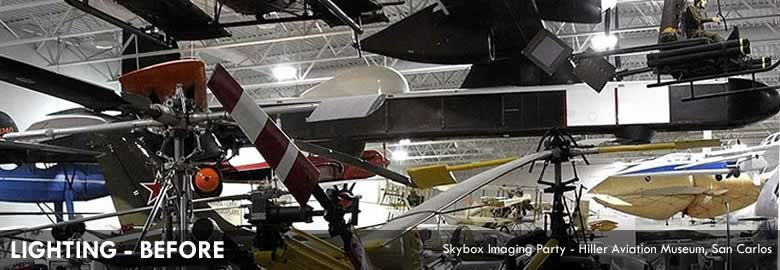 LIGHTING - BEFORE Skybox Imaging Party - Hiller Aviation Museum, San Carlos