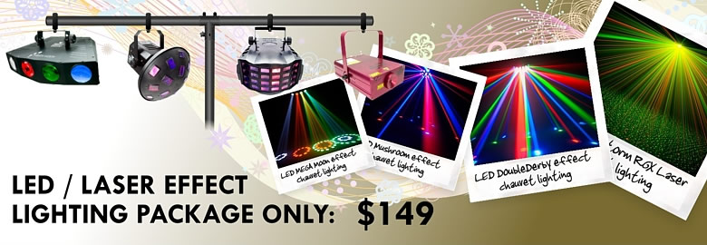 LED / Laser Effects Lighting Package only $149