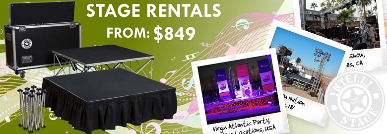Stage Rentals from $849